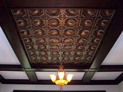 faux tin ceiling tile 106 antique copper flickr photo