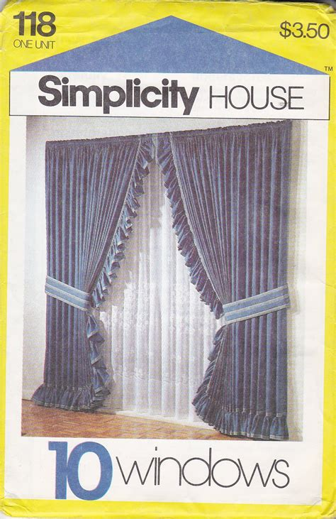 simplicity 5390 sewing pattern tie up shades by simplicity house sewing pattern 118 ten window treatments