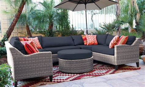 patio furniture oahu oahu outdoor sectional sofa with ottoman the dump