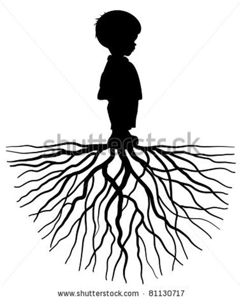 oak tree silhouette with roots clipart panda free
