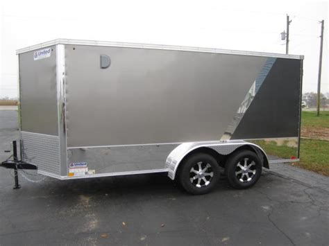 series trailer 2017 atc 7x14 all aluminum motorcycle trailer custom