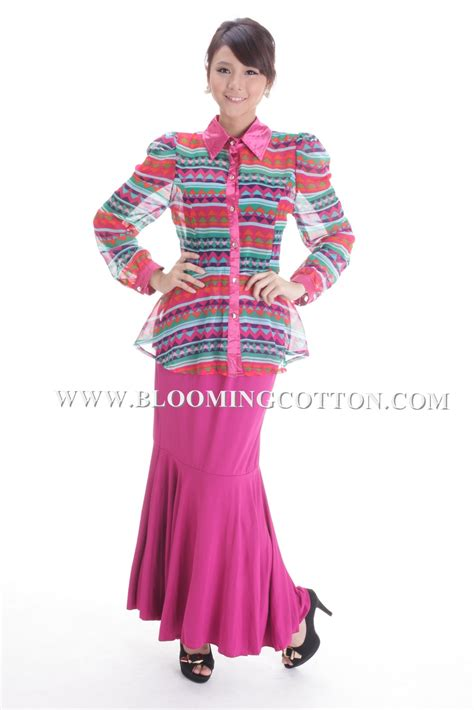 Kemeja Pink Oxford List Tribal blooming cotton kemeja chiffon tribal code 7200 1