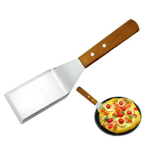 Spatula Pizza scraper pizza peel turner scoop with wooden handle stainless steel spatula sharp ebay