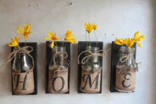 Make Wall Decorations At Home Home Wall Decor Set Of 4 Upcycled Bottles Home