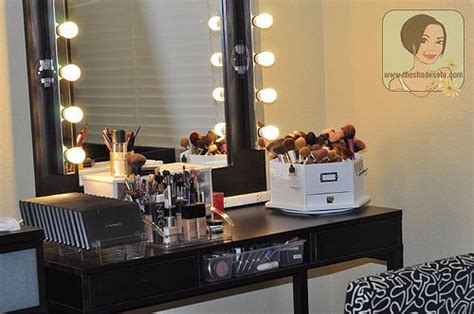 lights set up my makeup vanity set up with diy lighted mirror the