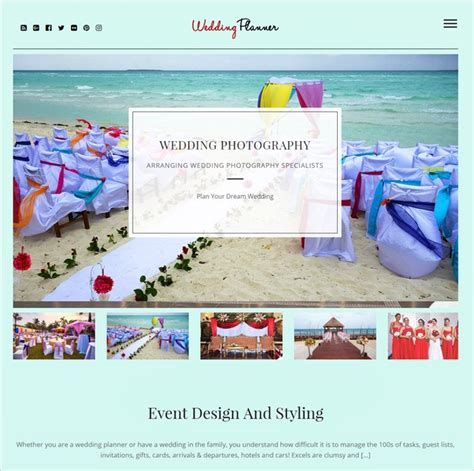 Best Wedding Planning Websites 2016 by 10 Best Wedding Planners Themes 2018 Inkthemes