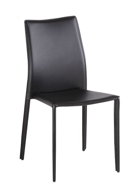 Modern Dining Black Leather Chairs C031b Set Of 4 Black Leather Chairs Dining