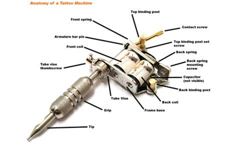 tattoo machine guide anatomy of a tattoo machine tattoo com