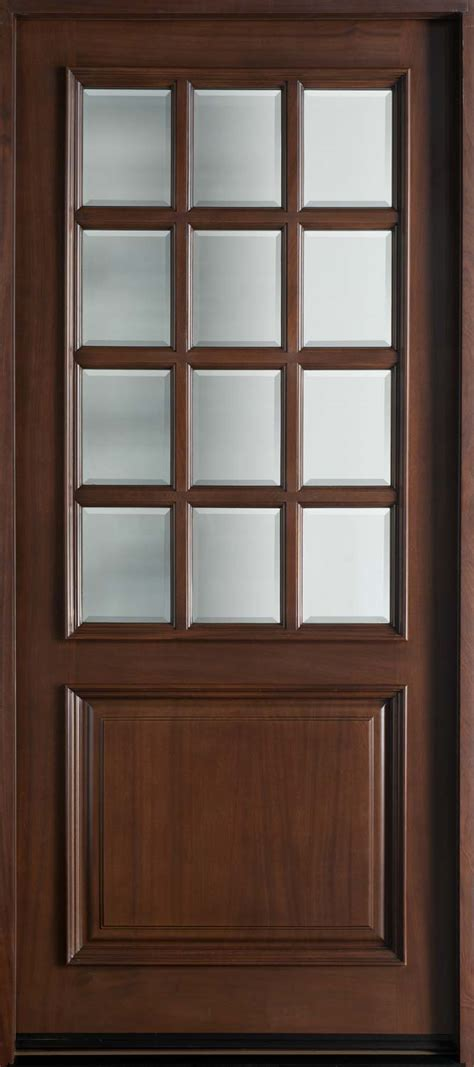Entry Door In Stock Single Solid Wood With Walnut Single Exterior Door
