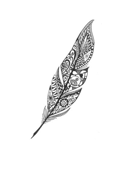 tattoo feather artistic feather art print by ink10 designs society6
