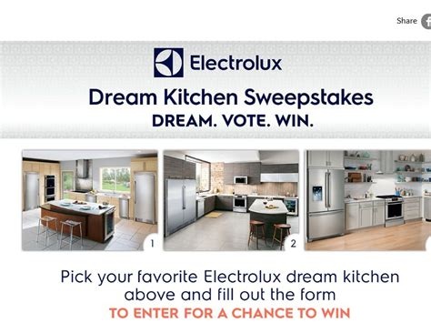 Kitchen Giveaway Contests - the electrolux dream kitchen sweepstakes sweepstakes fanatics
