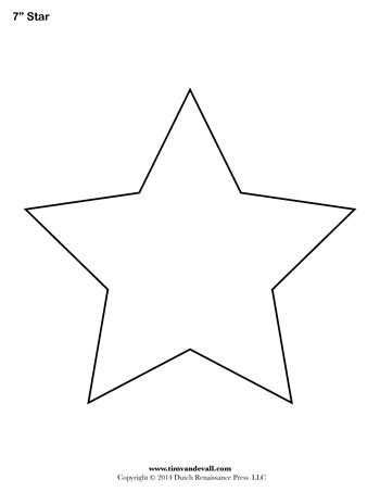 star template 7 inch tim s printables