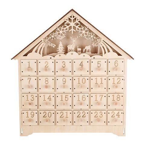 linea woodland charm wooden advent calendar winter