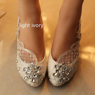 Flast Shoes Sepatu High Heels Wanita Stiletto Lc14 details about lace white ivory wedding shoes bridal flats low high heel size 5 12