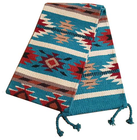 southwest table runner blue southwestern table