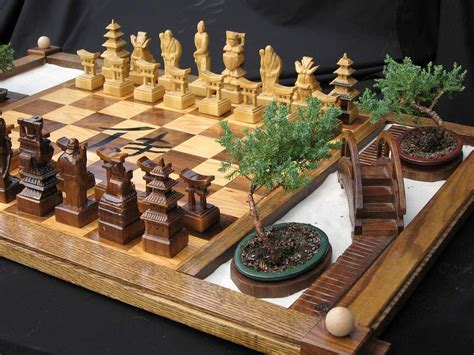 Handmade Wooden Chess Set - handmade chess set handcrafted from wood handmade