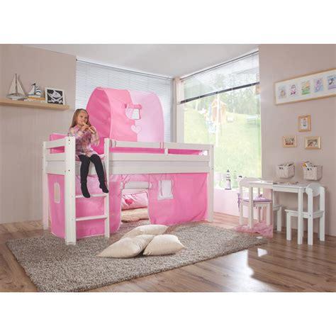 chambre enfant lit mezzanine pour fille comforium