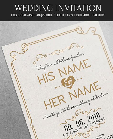 special invitation template 50 fabulous wedding invitation templates for your
