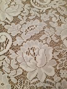 White Linen Valance Jc Penney Lace Curtains Ebay