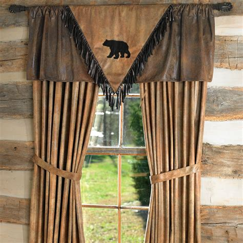 rustic window curtains black bear quot v quot valance z bed pinterest posts rustic