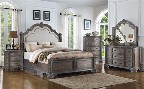 Grey Vintage Bedroom Furniture by Sheffield Panel Bedroom Set Antique Grey Crown