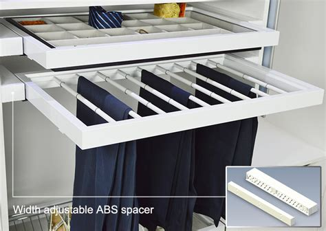 Wardrobe Accessories by Wardrobe Accessories Pull Out Trouser Rack With Movable
