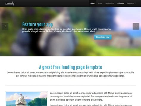 html landing page template free 25 free html landing page templates 2017 designmaz