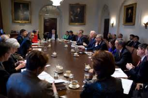 What Are The Cabinet Departments President Obama Holds A Cabinet Meeting In Photos