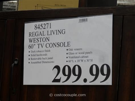 regal living regal living weston tv console