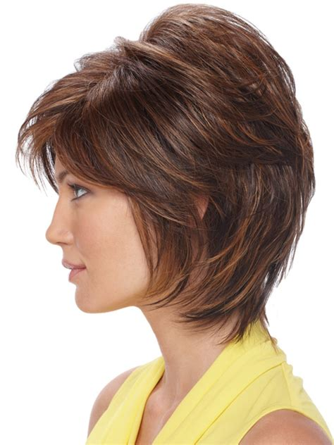 bob hairstyles with height on crown estetica designs renae wig short capless shag with bangs