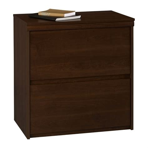 Lateral File Cabinet Cherry 2 Drawer Wood Lateral File Cabinet In Cherry 9502207p