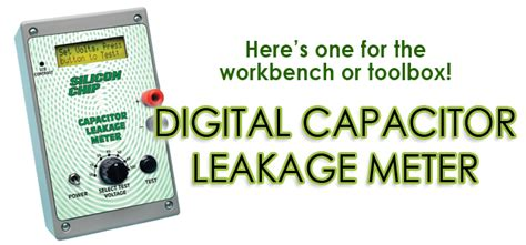 capacitor leakage meter silicon chip capacitor leakage meter with lcd readout