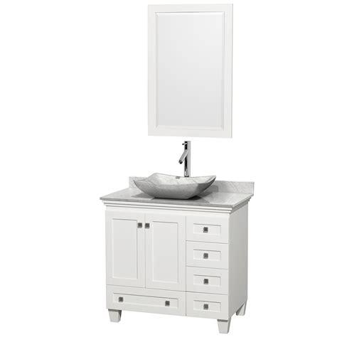 Wyndham Collection Wcv800036swhcmgs3m24 Acclaim 36 Inch Wyndham Bathroom Vanity