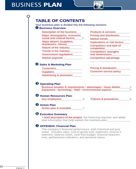 blank business plan template free blank business plan template for free formtemplate