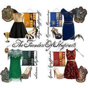 Red Bedroom Sets the founders of hogwarts polyvore