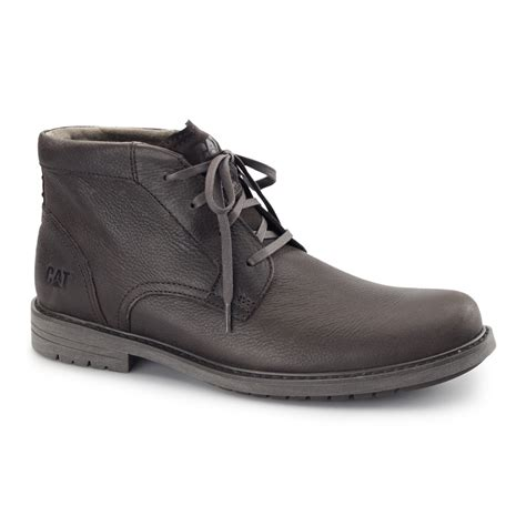 rugged casual boots caterpillar 174 brock mens leather lace up rugged comfort casual ankle chukka boots