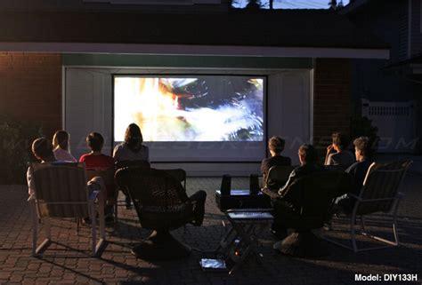 backyard projector screen diy elite diy outdoor movie projector screen