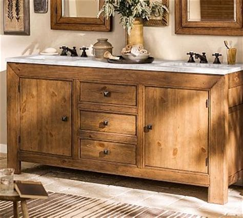 pine bathroom vanity unit stella double sink console weathered pine finish traditional bathroom vanity