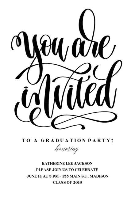 Graduation Party Invitation Templates (Free) | Greetings