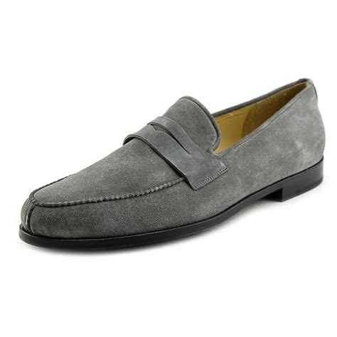 mens suede loafers arfango sum moc suede gray loafer loafers