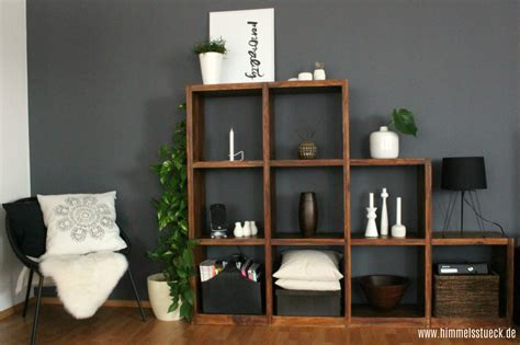 Graue Wand Wohnzimmer by Ikea Wohnwand Ideen