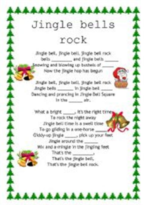 testo canzone jingle bell rock worksheet jingle bells rock