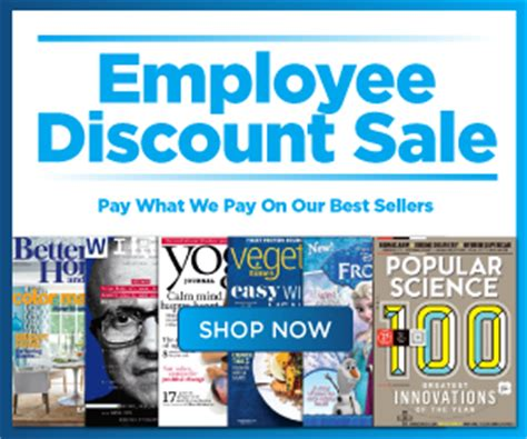 discountmags magazine subscriptions the best deals discount mags employee discount sale magazine