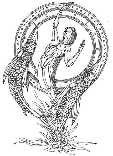 pisces zodiac adult colouring adult colouring zodiac