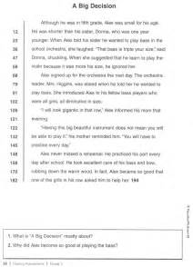 printable reading fluency passages 6th grade 1000 images