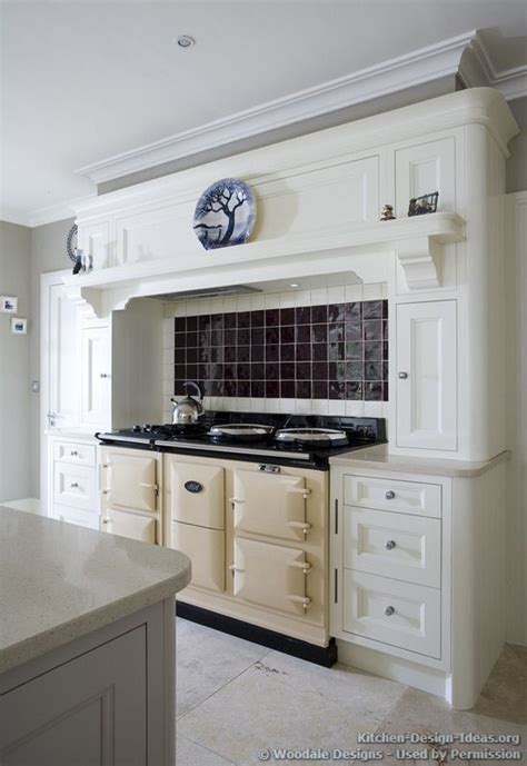 aga range cooker and a mantel style range