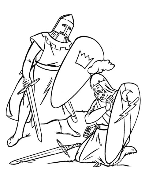 Coloring Pages Of Fighting Knights | knights coloring page az coloring pages