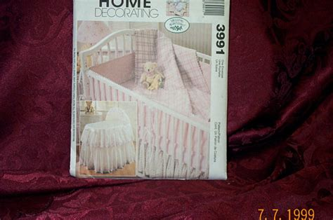 mccalls 8993 home decorating sewing pattern nursery decor mccalls home decorating baby crib sewing pattern