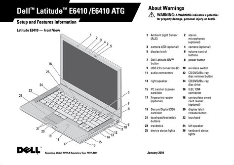 Pp27la Notebook Computer User Manual Pp27la 1 Dell
