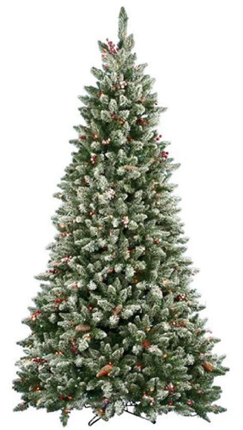 6 5 pre lit frosted edina slim artificial christmas tree